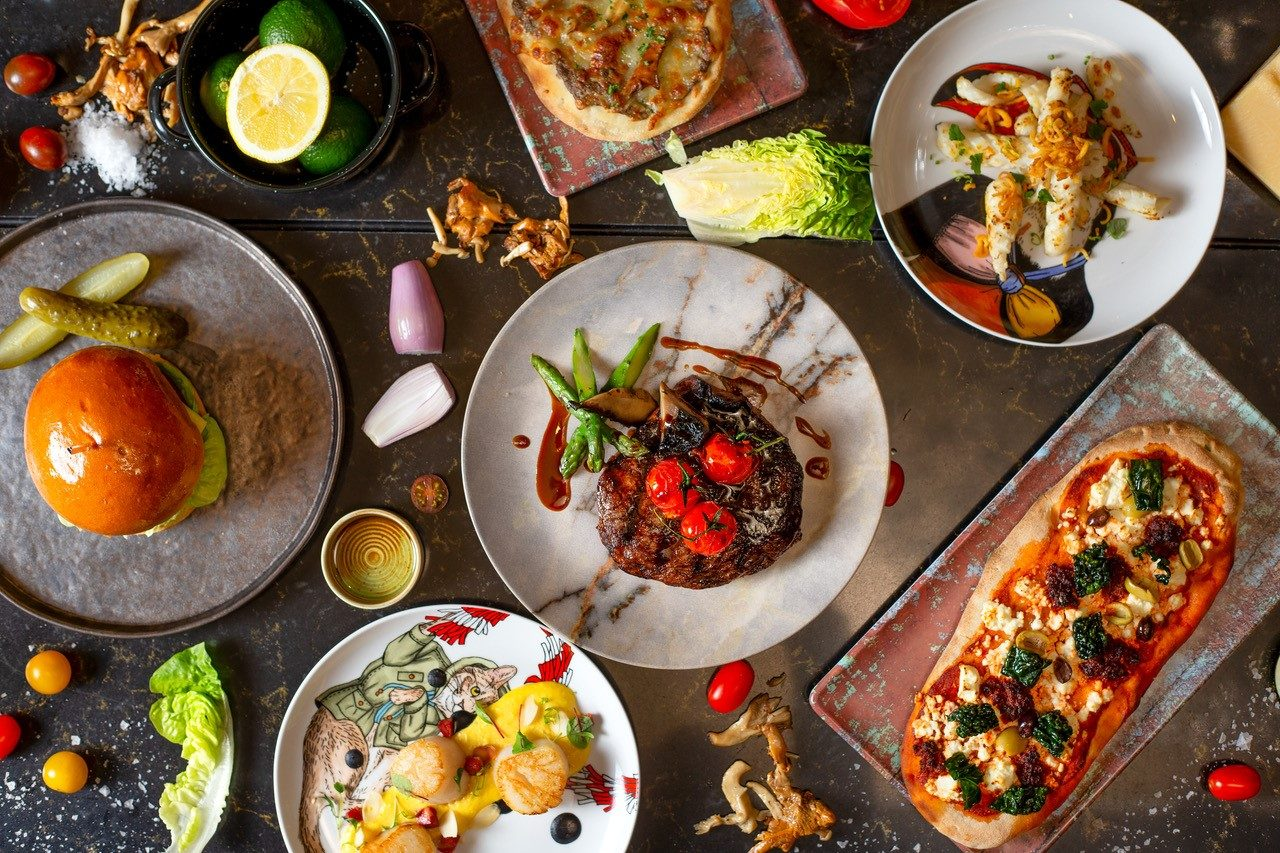 All day dining dishes London