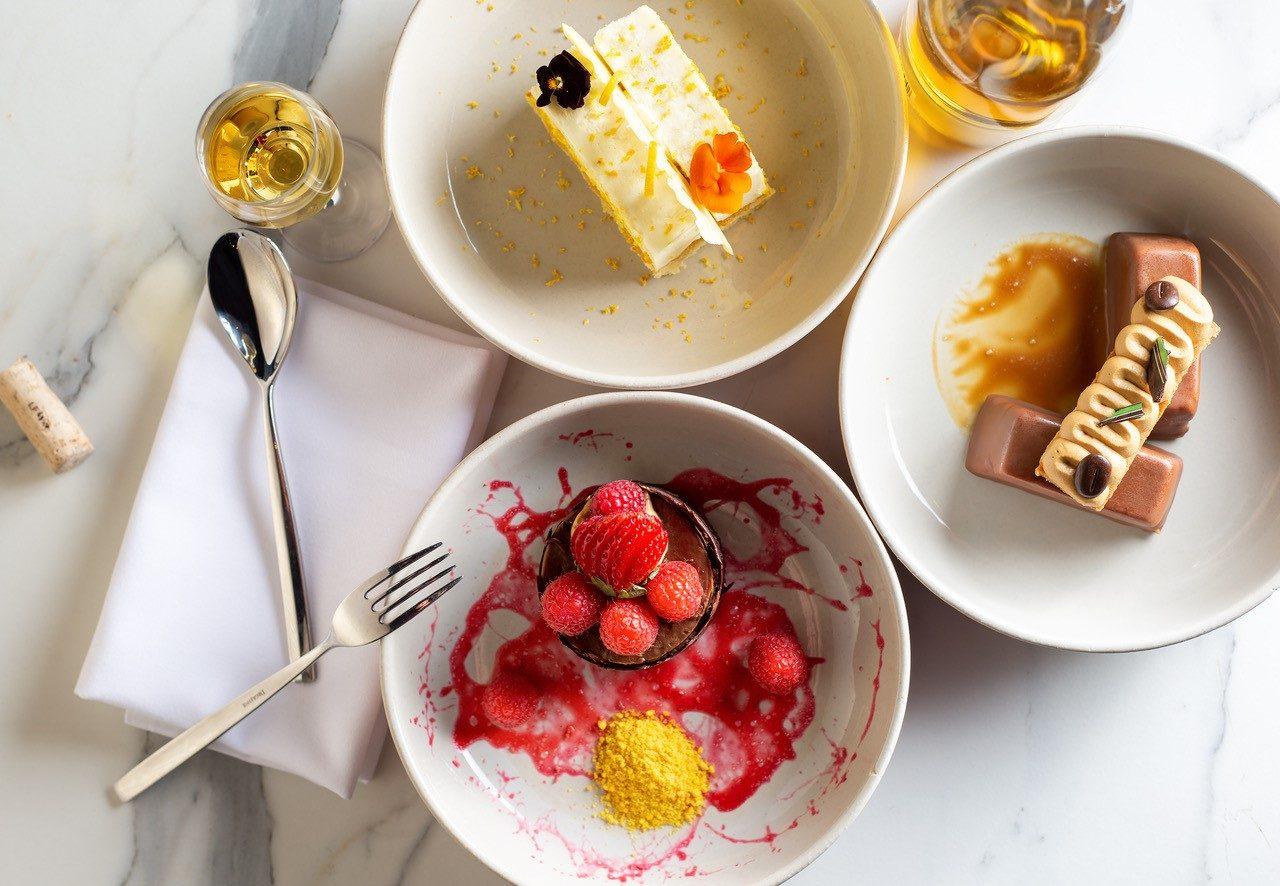 Selection of desserts at GA Kings Cross