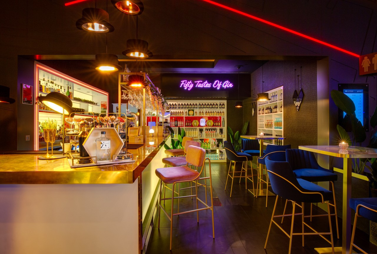 Fifty tastes of gin bar area